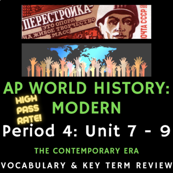 AP World History - Complete Period 6 Vocabulary Review PowerPoint Presentations