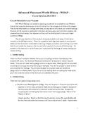 A.P. World History Course Syllabus