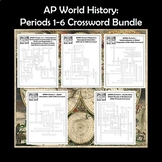 AP World History Crossword Puzzles by Period Bundle for the Entire Year APWH