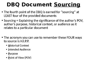 AP World History DBQ Sourcing Practice Lesson