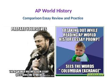 AP World History Exam Comparison Essay Review