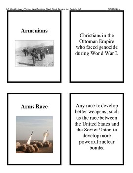 AP World History Flash Cards