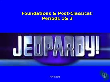 AP World History Foundations and Post-Classical Jeopardy Game