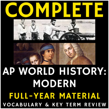 AP World History - Full Year Period 1-6 Vocabulary PowerPoint Presentations