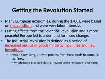 AP World History Industrial Revolution Notes