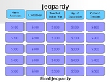 AP World History Jeopardy Africa & the Americas