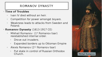 AP World - Lecture 19 w/ LECTURE NOTES (Rise of Russia)