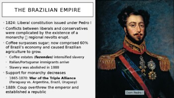 AP World - Lecture 26 w/ LECTURE NOTES (19th c. Latin America)