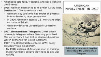 AP World History - Lecture 29 - WWI