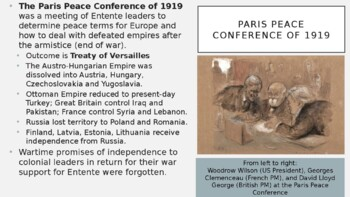 AP World - Lecture 29 w/ LECTURE NOTES (WWI)