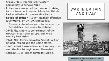 AP World - Lecture 31 w/ LECTURE NOTES (WWII)