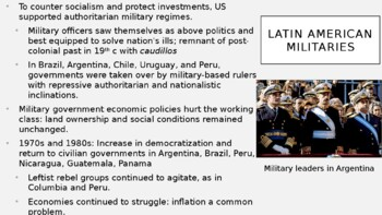 AP World History - Lecture 33 - 20th and 21st c. Latin America