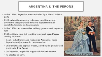 AP World - Lecture 33 - 20th and 21st c. Latin America