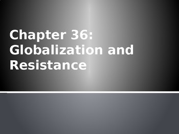 AP World - Lecture 37 w/ LECTURE NOTES (Globalization)