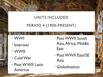 AP World History - Lectures 29 through 37 w/ LECTURE NOTES (Unit 6)
