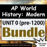 AP World History: Modern - Complete Unit 0 (pre-1200 CE) - Summer Assignment