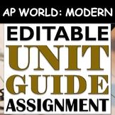 AP World History: Modern - Complete Unit Guide Review / Study Guide - EDITABLE!