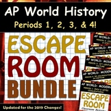 ESCAPE ROOM BUNDLE - AP World History Modern (WHAP) - Periods 1, 2, 3 & 4!