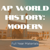 AP World History: Modern Full Year Powerpoint, Lectures and More!