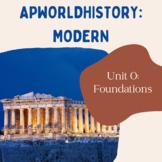 AP World History Modern - Unit 0 Resources