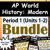 AP World History: Modern - Complete Unit 1 & 2 (Period 1) Pack, Google Drive!
