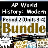 AP World History: Modern - Complete Unit 3 & 4 (Period 2) Pack, Google Drive!