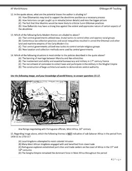 AP World History: Modern Multiple-Choice Tests - All 4 Periods - Updated 2019!