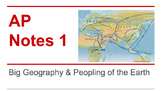 AP World History Notes 1: Big Geography & the Peopling of