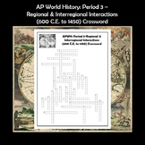 AP World History Period 3 Crossword Review APWH