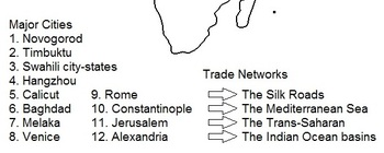 Ap world history period 3 trade routes map activity blank worksheet gumiabroncs Images