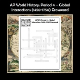 AP World History Period 4 Crossword Review APWH