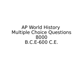 AP World History Review