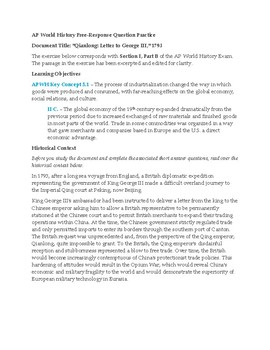 AP World History SAQ Practice, Opium War and British Imperialism