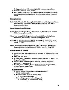 AP World History Syllabus