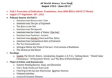 AP World History Syllabus and Year Map