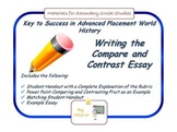 AP World History: Teaching the Compare and Contrast Essay