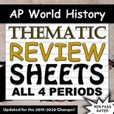 AP World History Thematic Timeline Review Sheets