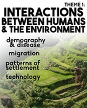 AP World History Theme 1 Poster