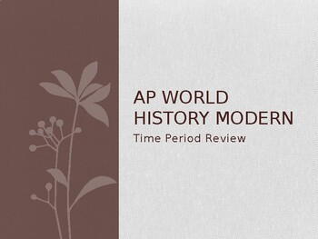AP World History - Time Period Reviews