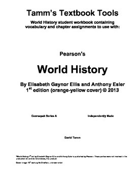 """World History Chapter Assignments for Ellis and Esler's Textbook """"World History"""""""