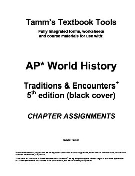 AP World History Traditions and Encounters 5th edition Student Work Packet