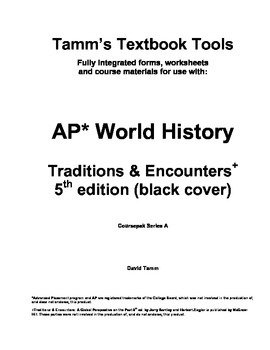 AP World History Traditions and Encounters 5th edition Vocabulary Packet
