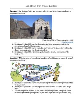 AP World History Unit 4 Short Answer Questions