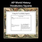 AP World History Vocabulary Squares Period 6 APWH