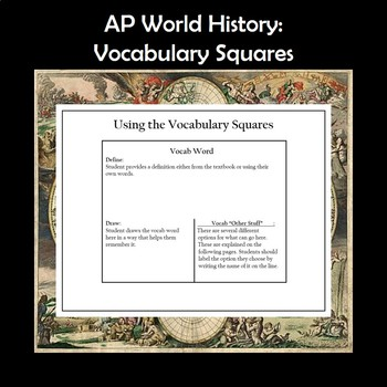 AP World History Vocabulary Squares Periods 1 and 2 APWH