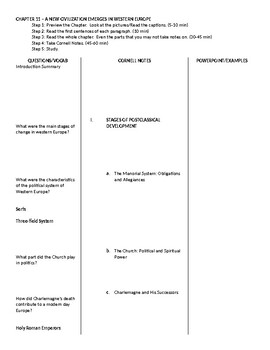 AP World History - World Civilizations: Chapter 11 Cornell Notes Outline