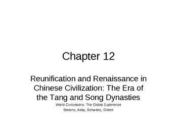AP World History - World Civilizations Chapter 12 - Tang and Song Dynasties