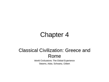 AP World History - World Civilizations Chapter 4 - Ancient Greece and Rome