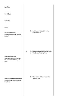 AP World History - World Civilizations: Chapter 9 Cornell Notes Outline