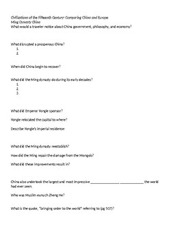 AP World: Strayer Ways of the World w/ Sources Ch 12 Guided Reading Questions